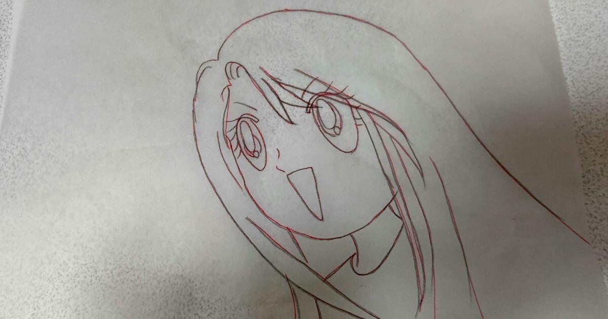 赤ペンで描き終わり