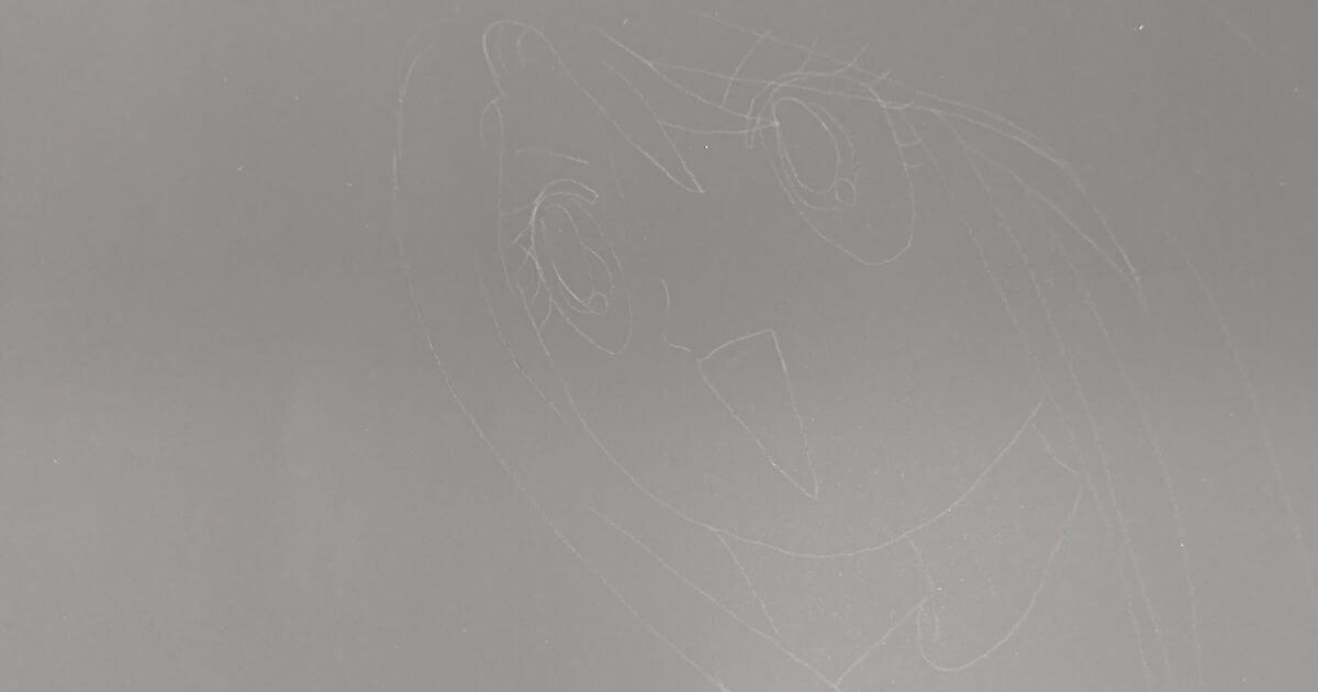 スクラッチアート用紙にうっすら